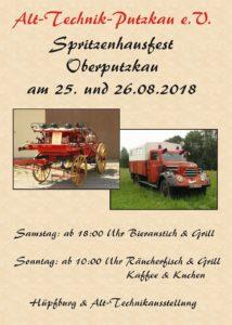 Flyer Spritzenhausfest 2018