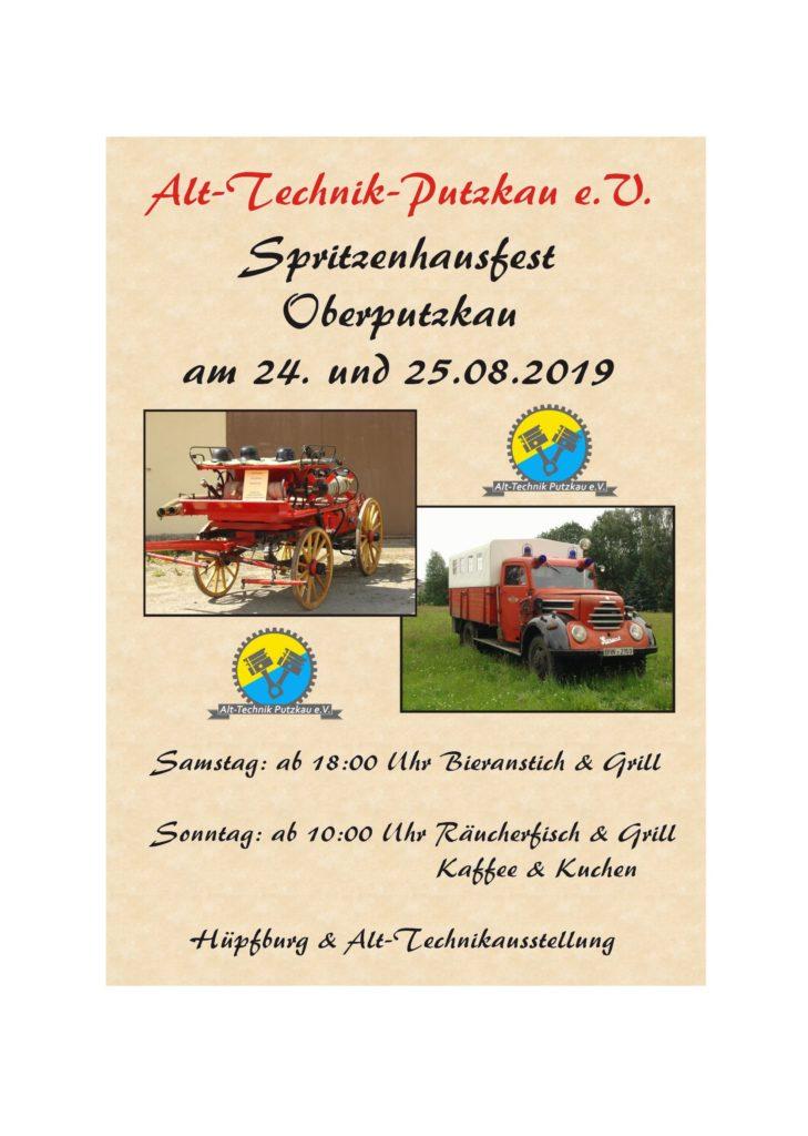 Flyer Spritzenhausfest 2019